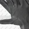 White flock lined embossed black latex industrial chemical resistant gloves