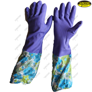Jersey cotton lined latex household hand protection cold resistant winter gloves