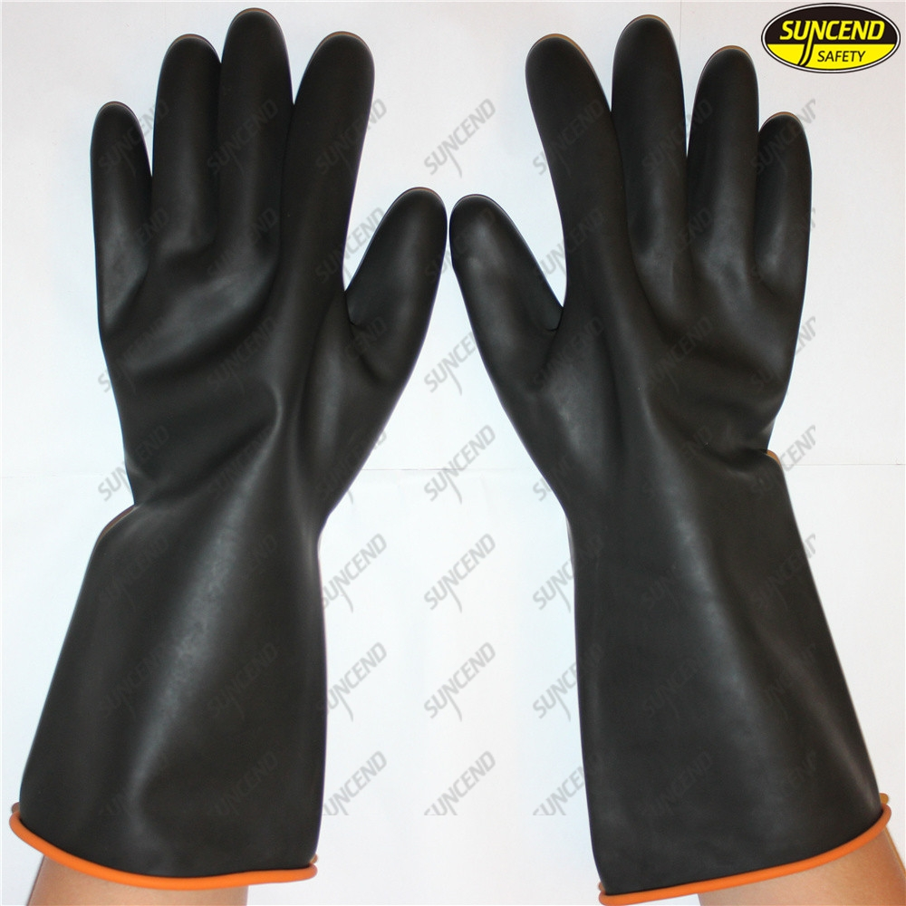 Industrial nitrile oil resistant long waterproof auto mechanic gloves