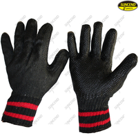 Wholesale women industrial garden soft rubber coated gloves