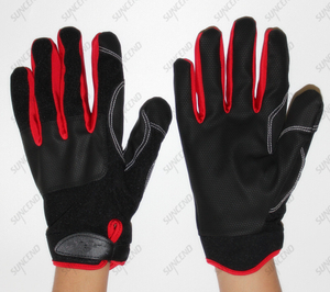 PU Football Textured Mechanic Extra Grip Work Gloves Mechanic Gloves