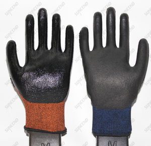 Customized PU Palm Coated TPR on Back Anti Impact Safety Gloves