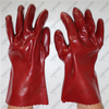 Interlock cotton lining thick red smooth PVC coating gloves