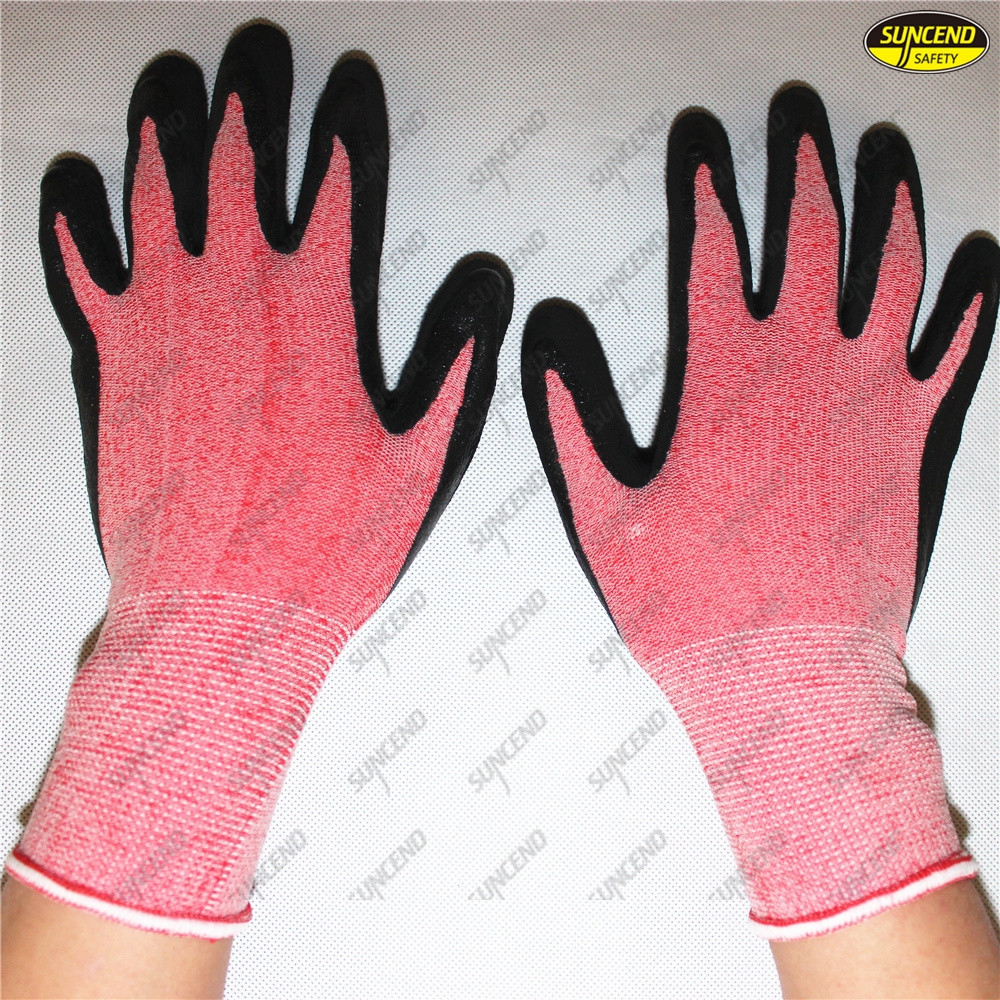 Natural foam latex palm coated breathable work gloves