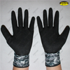 Mechanic working latex dipped crinkle finished hand job gloves