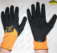 Custom design nitrile coated sandy cheap work gloves