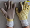 10G polycotton liner smoke sheet rubber mechanic gloves