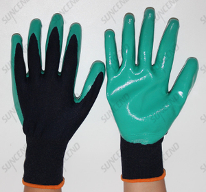 13 Gauge Smooth Nitrile Coated Gloves