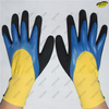 Safety polyester liner double nitrile dipped working gloves