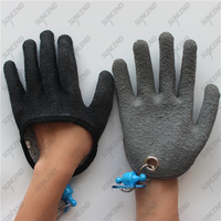 Grey/ black right knife slash proof fishing cut level 5 gloves