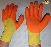 Chemical resistant PVC coated foam finish protective gloves