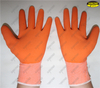 Small foam latex coated polyester liner safety work gloves