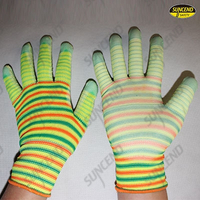 U3 liner PU palm coated work gloves