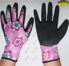 Micro crinkle latex coated fashionable liner safety hand gloves
