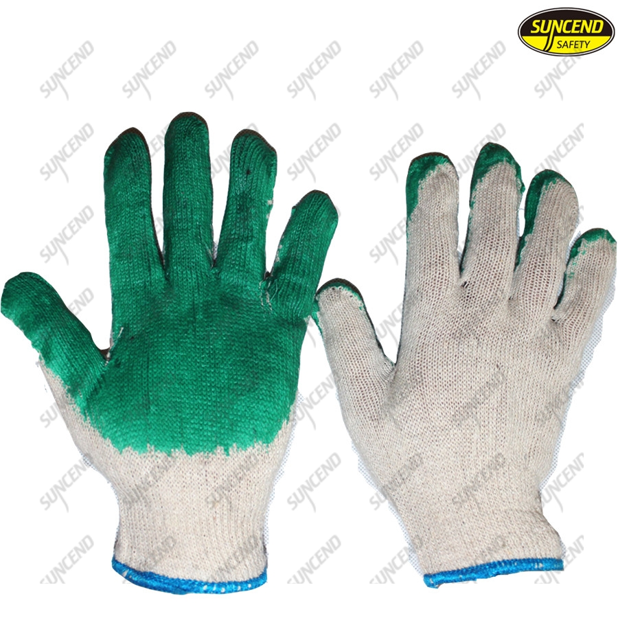 Wholesale cheap smooth latex coated worker gloves