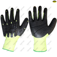 TPE dipped labor mechanical gloves,high impact gloves