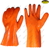 PVC double coated granule waterproof safety good grip work glove