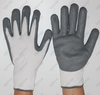 Gray Nitrile Palm Coated Football Textured Foam Finish Extra Grip Gloves