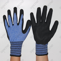 Sandy Nitrile Coated Work Gloves with Polyester/nylon Liner