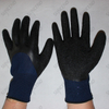 10G black acrylic with nappy 3/4 coated foam latex winter work gloves