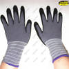 Knitted cotton nitrile sandy coated hand working gloves