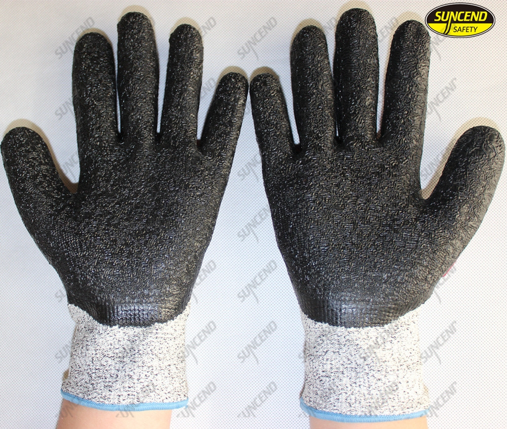 Cut resistant anti vibration safety impact work gloves
