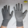 Grey pu palm fit gloves