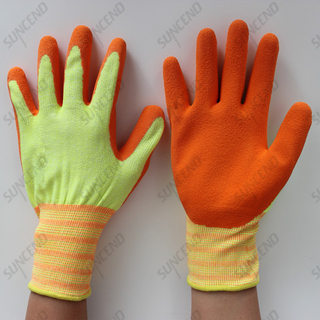 18 Gauge Nylon Liner Latex Coated Foam Finish Work Gloves