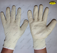 Smooth finish latex palm dipped hand safety gloves