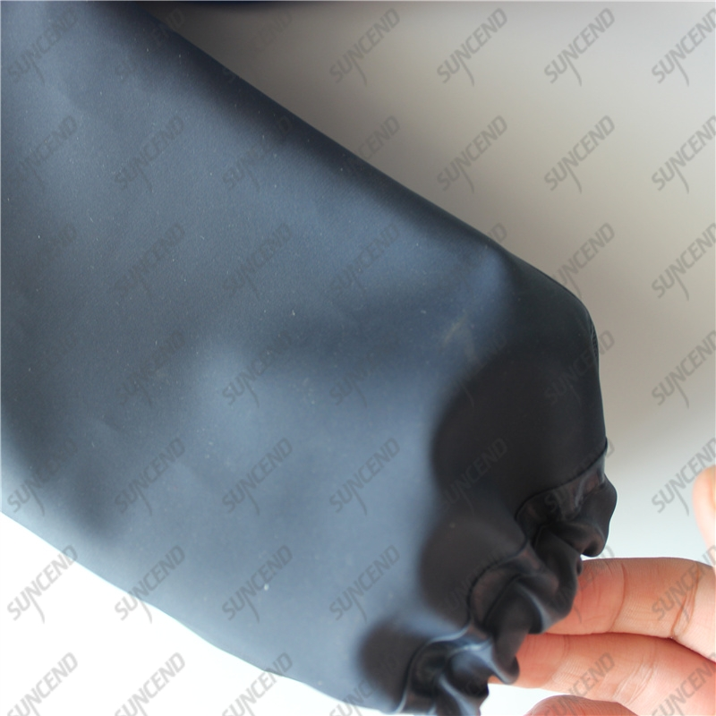 28 inch Long Sleeve Blue Sandy PVC Rubber Slurry Chemical Gloves Gauntlet