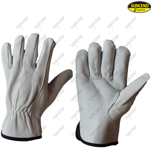 Classic Sheepskin Leather Mens Car Driving Gloves
