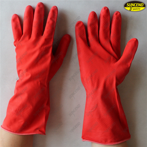 Colourful Fashion Household Latex Gloves for Kitchen