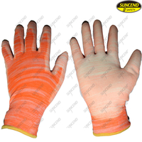 PU coated working safety oil resistant gloves