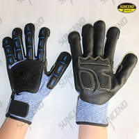 13G HPPE Liner TPR back foam nitrile palm anti-impact gloves