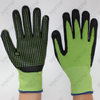 15G Nylon+spandex Liner Foam Nitrile Coated Dotted Work Gloves