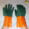 Double dipped foam finish PVC gauntlet work gloves