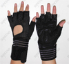 Sports Ventilated Workout Gloves with Integrated Wrist Wraps and Full Palm Silicone Padding
