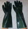 100% cotton lining long sleeve anti acid sandy PVC coated gloves