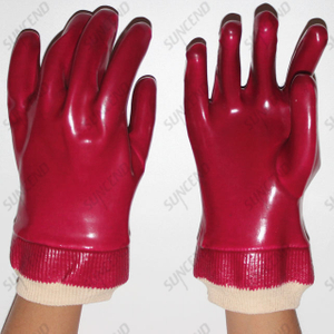 PVC Double Dipped Chemical Resistant Safety Gloves