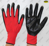 13gauge nylon zebra nitrile coated gloves