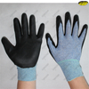 Micro foam black nitrile coated gloves for light industry