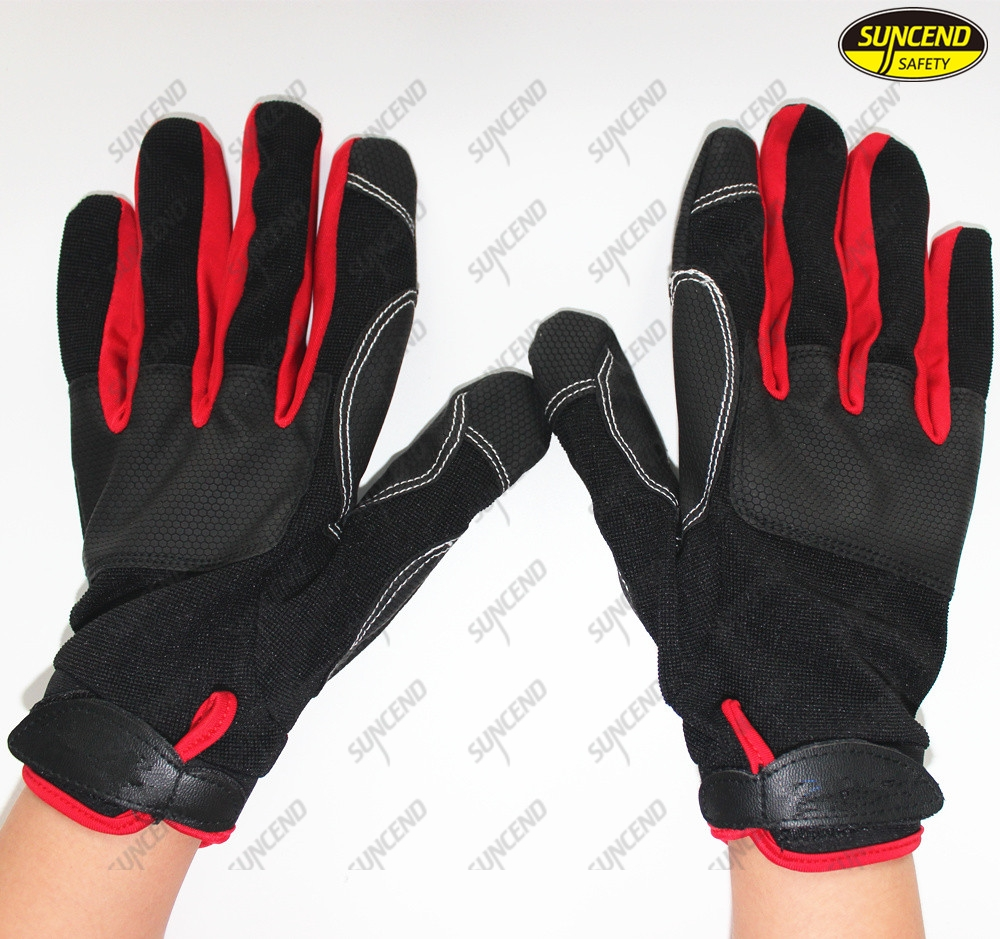 Custom Industrial Protective Electrical Mechanical Work Auto Mechanic Gloves