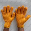 10g cotton terry knitted lining single palm PVC dotted winter garden gloves