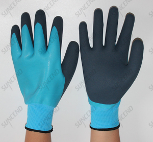 SUNCEND Customized WG-318 Gloves Fully Coated Latex Waterproof Work Glove