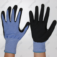 Nylon Liner Sandy Nitrile Coated Work Gloves