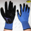 Industry safety work smooth nitrile palm coated gloves