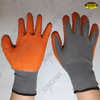 Nylon liner crinkle latex palm coated work gloves
