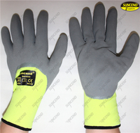 Nitrile coated sandy finish safety mechanic work gloves