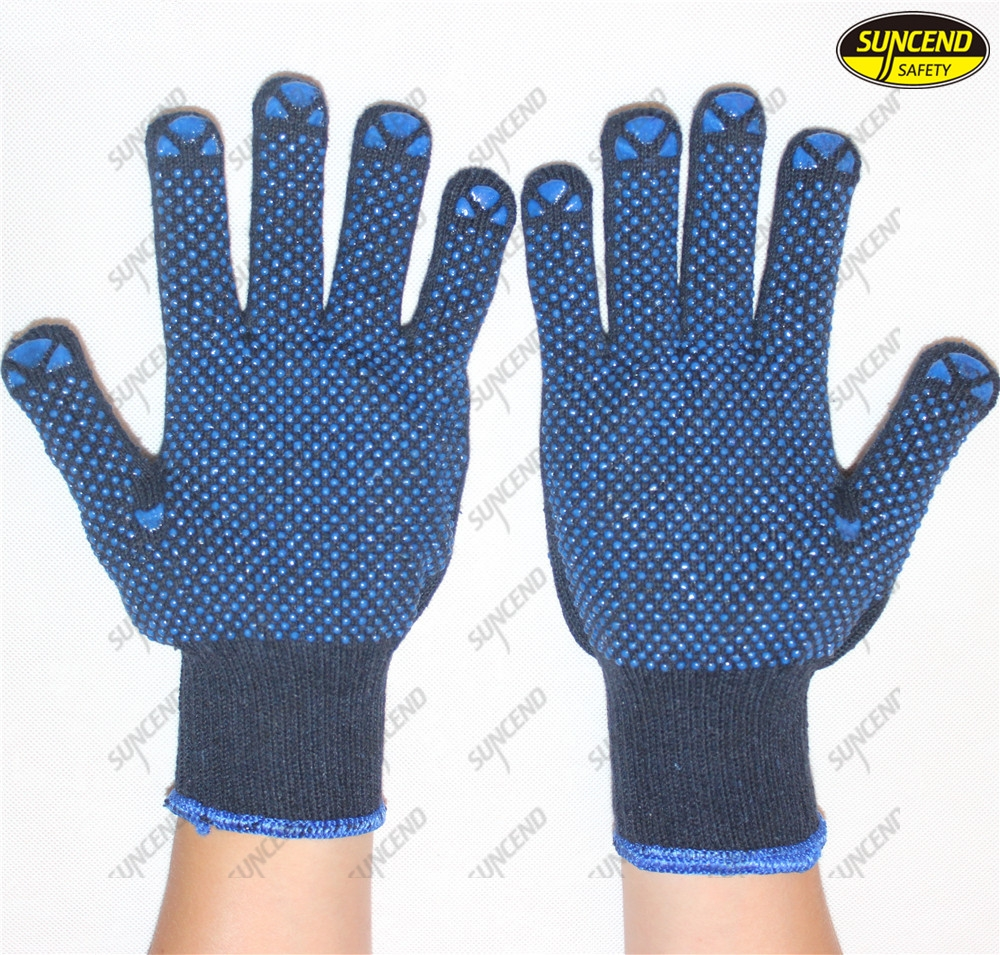 Cheap price safety gloves pvc dotted gloves