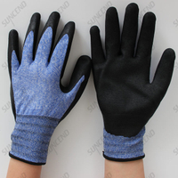 High Elastic Wire Sandy Nitrile Wholesale New Design Work Gloves